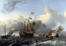 212/backhuysen, ludolf - the eendracht and a fleet of dutch men-of-war