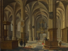 212/bassen, bartholomeus van - interior of the cunerakerk, rhenen