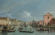 212/bellotto, bernardo - venice - the grand canal facing santa croce