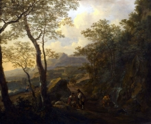 212/both, jan - a rocky italian landscape with herdsmen and muleteers