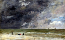 212/boudin, eugene - beach at trouville