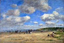 212/boudin, eugene - the beach at tourgeville-les-sablons