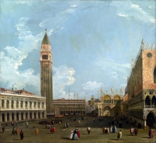 212/canaletto - the piazzetta from the molo