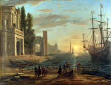 212/claude lorrain - a seaport