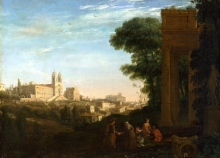 212/claude lorrain - a view in rome
