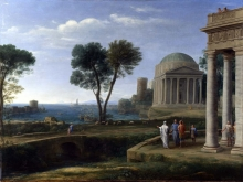 212/claude lorrain - landscape with aeneas at delos