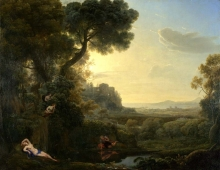212/claude lorrain - landscape with narcissus and echo