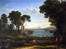 212/claude lorrain - landscape with the marriage of isaac and rebecca