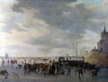212/goyen, jan van - a scene on the ice near dordrecht