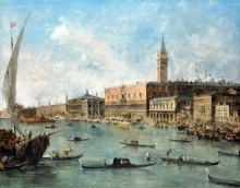 212/guardi, francesco - the doge's palace and the molo