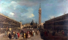 212/guardi, francesco - the piazza san marco towards the basilica