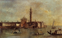 212/guardi, francesco - view of the island of san giorgio in alga venice