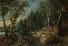 212/rubens, peter paul - a shepherd with his flock in a woody landscape