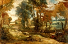 212/rubens, peter paul - a wagon fording a stream