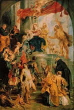 212/rubens, peter paul - virgin and child enthroned with saints