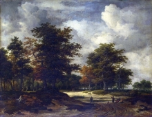 212/ruisdael, jacob isaackszon van - a road leading into a wood