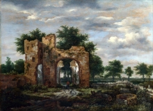 212/ruisdael, jacob isaackszon van - a ruined castle gateway