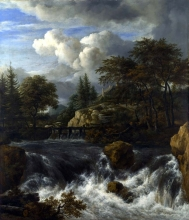 212/ruisdael, jacob isaackszon van - a waterfall in a rocky landscape