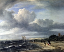 212/ruisdael, jacob isaackszon van - the shore at egmond-aan-zee