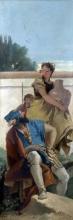 212/tiepolo, giovanni battista - a seated man and a girl with a pitcher
