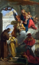 212/tiepolo, giovanni battista - the virgin and child appearing to a group of saints