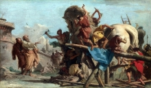 212/tiepolo, giovanni domenico - the building of the trojan horse