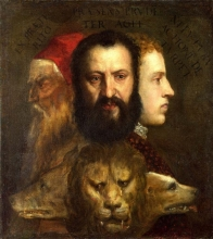 212/tiziano vecellio - allegory of time governed by prudence