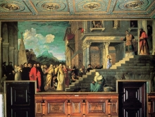 212/tiziano vecellio - entry of mary into the temple
