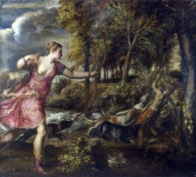 212/tiziano vecellio - the death of actaeon