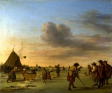 212/velde, adriaen van de - golfers on the ice near haarlem
