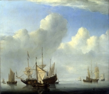 212/velde, willem van de, the younger - a dutch ship coming to anchor