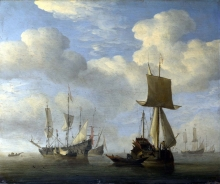 212/velde, willem van de, the younger - an english vessel and dutch ships becalmed