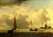 212/velde, willem van de, the younger - dutch ships and small vessels offshore in a breeze