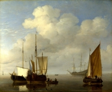 212/velde, willem van de, the younger - dutch ships in a calm