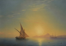 213/, иван константинович 04_01_006_sunset over ischia 1857 69.5 by 100.5 cm