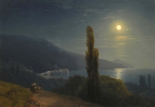 213/, иван константинович 04_02_014_crimean coast in moonlight 1859 56 by 80cm