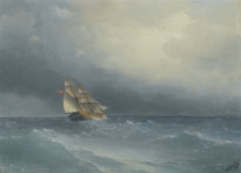 213/, иван константинович the lifting storm 1880 33 by 44.5cm
