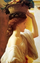 213/frederic leighton_-_eucharis a girl with a basket of fruit