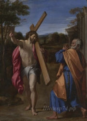 londongallery/annibale carracci - christ appearing to saint peter on the appian way
