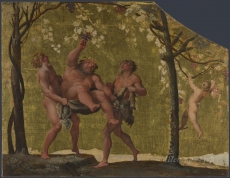 londongallery/annibale carracci - silenus gathering grapes