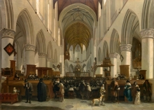 212/berckheyde, gerrit adriaensz - the interior of the grote kerk (st bavo) at haarlem