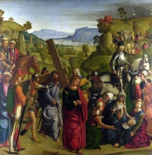 212/boccaccino, boccaccio - christ carrying the cross and the virgin mary swooning