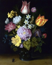 212/bosschaert, ambrosius the elder - flowers in a glass vase