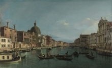 212/canaletto - the grand canal with s. simeone piccolo