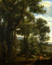 212/claude lorrain - landscape with a goatherd and goats