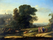 212/claude lorrain - landscape with cephalus and procris reunited by diana