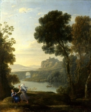 212/claude lorrain - landscape with hagar and the angel