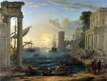 212/claude lorrain - seaport with the embarkation of the queen of sheba