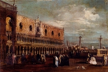 212/guardi, francesco - a view of the piazzetta_looking south with the palazzo ducale
