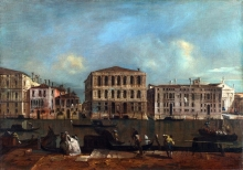 212/guardi, francesco - the grand canal with palazzo pesaro